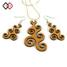 Hengkai Custom Laser Cut Wood Art Deco Design Earrings - Buy Wood Earrings,Wooden Carved Earring,Hengkai Product on Alibaba.com