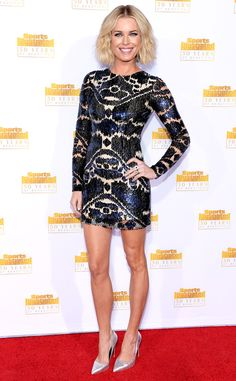 Rebecca Romijn from Sports Illustrated Swimsuit Issue 50th Anniversary Party | E! Online