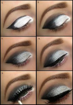 Beautiful Grey Smokey Eyes - DIY Tutorial