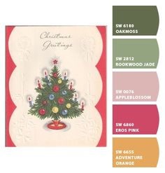 Paint colors from Chip It! by Sherwin-Williams Color Combos, Color Schemes, Pink And Green, Purple, Paint Chips, Vintage Holiday, Colour Palettes, Color Pallets, Paint Colors