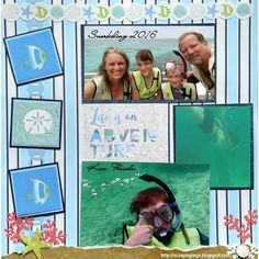Snorkeling in the Key's FL scrapbook layout featured on Creative Life Scrapbooking using Creative Memories Product www.creativememories.com/user/CandaceBouldin