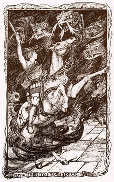 Henry Justice Ford ~ Petru Has To Turn Back ~ The Violet Fairy Book by Andrew Lang ~ 1901 ~ via The Pictorial Arts