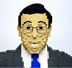 lego sculptures Steven Colbert