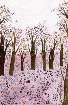 Trees by Yelena Bryksenkova #painting  Absolutely looove this....Andrée...