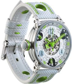 M Watch Golf Master Ladies Lime Green Hands- Watch Available to buy online. Fancy Watches, Expensive Watches, Stylish Watches, Luxury Watches, Cool Watches, Watches For Men, Unique Watches, Patek Philippe, Brm Watches