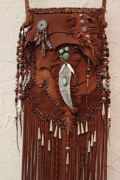 beautiful boho bohemian leather bag purse