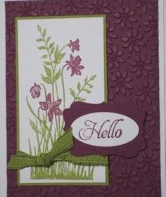 petite flowers  stampin up
