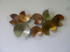abstracte cirkels met draadwerk