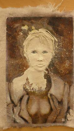 relief portrait in process.
