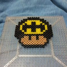 Batman mushroom perler beads by theinfamousbigd