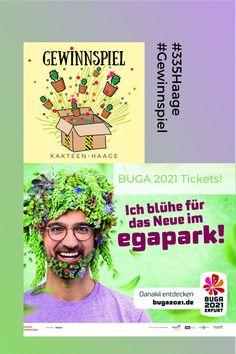 GewinnSpiele #335haage no 4 es gibt BUGA Tickets! In der vierten Runde der #335haage GewinnSpiele verlosen wir einmal zwei Tages-Tickets für die Bundesgartenschau 2021 in Erfurt. #HaageLife #Gewinnspiel #KakteenHaage #Erfurt