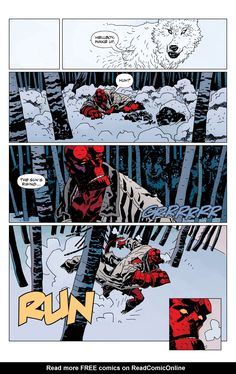 Hellboy Issue - Read Hellboy Issue comic online in high quality Comic Book Characters, Comic Character, Comic Books Art, Comic Art, Character Design, Mike Mignola Art, Comic Frame, Comic Layout, Free Comics