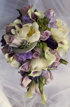 Bridal bouquet designed by Dragonfly Florist