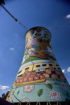 Orlando Towers, Soweto, Gauteng, South Africa | by South African Tourism Interesting Photos, Cool Photos, Pretoria, My Land, African Art, Towers, Orlando, South Africa, Tourism