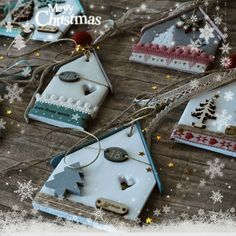 Make from anything: stacked cardstock, wood, clay, etc Christmas Makes, Christmas Mood, Diy Christmas Tree, Handmade Christmas, Christmas Ornaments, Clay Christmas Decorations, Polymer Clay Christmas, Holiday Crafts, Clay Ornaments