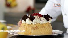 La torta charlotte al cioccolato e amarene del pasticciere Gianluca Aresu, proposta all'interno del programma di Alice Festa in tavola.