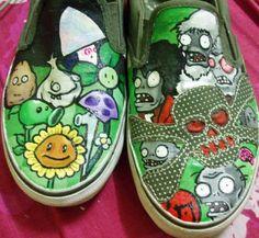 Plants Vs Zombies shoes by ~pixelputa on deviantART