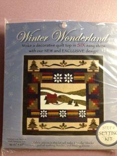 Winter Wonderland Quilt Block Kit  COMPLETE by KoopsKountryKalico, $40.00
