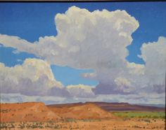 """Thunderheads,"" Frank Ray Huff, Jr., 16x20, oil on canvas"