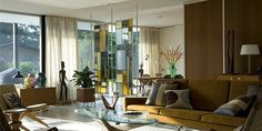 Andrew Weaving Mid Century Modern house - Gene Leedy - sarasota. All I can say is Wow. So gorgeous. And look at that stained glass divider.