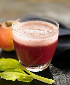 Beet, apple and celery juice