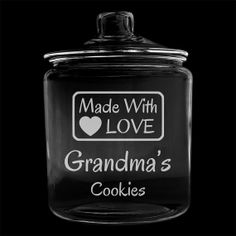 Personalized Cookie Jar Made with Love Custom 1 Gallon