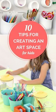 Top 10 tips for creating an inviting, functional and playful home art space for kids. | Megan Schiller from The Art Pantry.