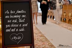 Pick a seat, not a side. #wedding #sign