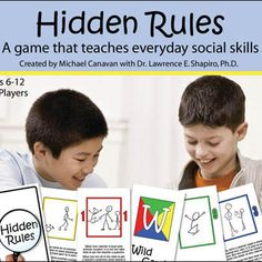 Hidden Rules is a term used to describe the unwritten social rules and behaviors that most of us seem to know without ever being taught. This fun card game will help children learn and practice 40 hidden rules for everyday life. 2-8 players