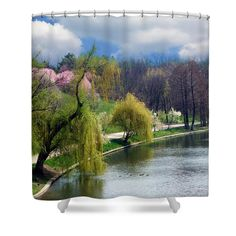#Spring at the #Lake #Shower #Curtain by Judi Saunders