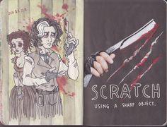 WRECK THIS JOURNAL - Scratch using a sharp object by n1ckys.deviantart.com on @deviantART