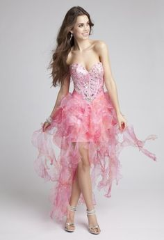 fully beaded bodice, organza ruched waist with center beading, wispy organza skirt with a corset tie back