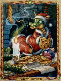 Christmas-Dragon-Santa Dragon by Randal Spangler