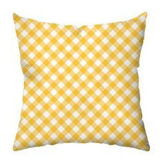 Gingham Outdoor Throw Pillow - Decorative Pillows at Hayneedle