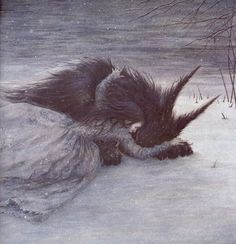 Illustration by Angela Barrett for Beauty and the Beast