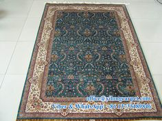 5' x 7.5' handmade Persian carpet Material: silk Quality: 400kpsi Turkish knots Contact: Ms. Amy Yu Mobile: +86 13733189846 E-mail: office@yilongcarpet.com