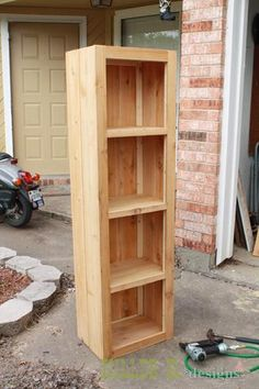 I want to make this!  DIY Furniture Plan from Ana-White.com  Ever admired a rustic hand built bookcase only to be floored by the price? Well here's a simple way to make one using cedar 1x2's and fence pickets for around $35!