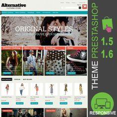 Thème PrestaShop 1.5 et 1.6 pour boutique en ligne destiné à la vente de vêtements, sacs, chaussures, accessoires, mode femmes, mode hommes, fashion…