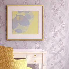 Delicate Allover Feather Pattern Wall Stencil | Raven + Lily Stencils | Royal Design Studio