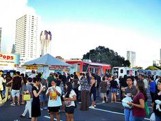 Eat The Street - #Hawaii's Largest Food Truck Rally happens the last Friday of each month. With themes like Musubi, Bacon, Chocolate, Spicy and much, much more; There's always something new and onolicious (super delicious) to try!