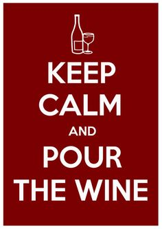 Keep Calm and Pour the Wine  typography Inpirational by BEANLAND, $9.00