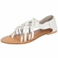 Dorothy Perkins Silver cross strap sandals Silver and white cross over multi strap sandals. Perfect for warm weather holidays. 100% Leather. http://www.comparestoreprices.co.uk/womens-shoes/dorothy-perkins-silver-cross-strap-sandals.asp