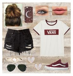 """Not What I Thought"" by peace8sign ❤ liked on Polyvore featuring Vans, LASplash, Ray-Ban, Accessorize and New Look"