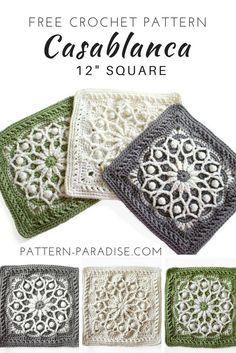Casablanca Crochet Square