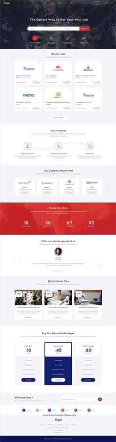 Jobhunt is clean and modern design PSD template for #job board and #recruitment services website with 63 layered PSD pages to live preview & download click on Visit  #webdesign