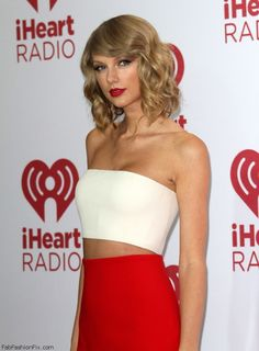 Taylor Swift dressed in Calvin Klein at the 2014 iHeart Radio Music Festival. #taylorswift