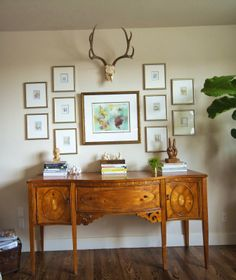 my secret for hanging straight gallery walls