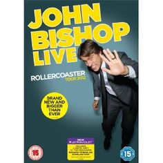 One of the funniest stand-up comedy DVDs last year was this one from John Bishop, which was a recording from his hugely popular Rollercoaster tour. John Bishop, Movies To Watch Online, Watch Movies, Stand Up Comedy, Film Review, Mystery Thriller, Roller Coaster, Comedians