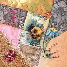 crazy quilting - Quilted Tapestry with Sally Papin