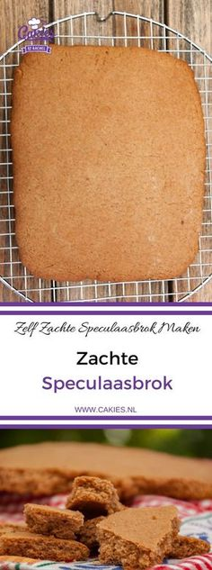 Dutch soft speculaasbrok is crunchy on the outside and soft on the inside. A giant spiced cookie chunk that makes a delicious fall or winter treat. Best Dessert Recipes, Easy Desserts, Delicious Desserts, Yummy Food, Dutch Recipes, Baking Recipes, Cookie Recipes, Biscoff Recipes, Spice Cookies